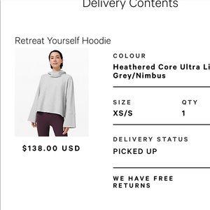 Brand new retreat yourself hoodie